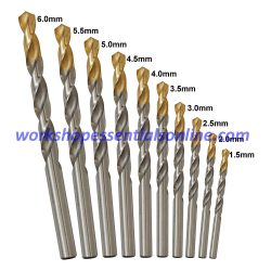 Dormer A002 HSS TiN Coated Metric 1.5mm-6.0mm Jobber Drills Bits Refill Set