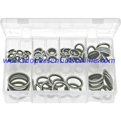 """Dowty Washers (Bonded Seals) BSP Sizes 1/8""""BSP-1""""BSP 90 Items Boxed AB67"""