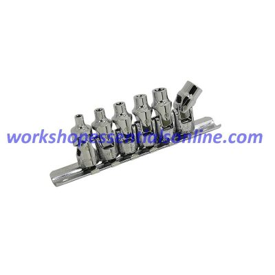 """E Torx Universal Joint Socket Set E4-E10 6pc 1/4"""" Drive Trident T112300"""