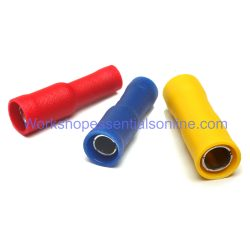 Female Bullet Connectors Insulated Electric Crimp Terminals Red-Blue-Yellow