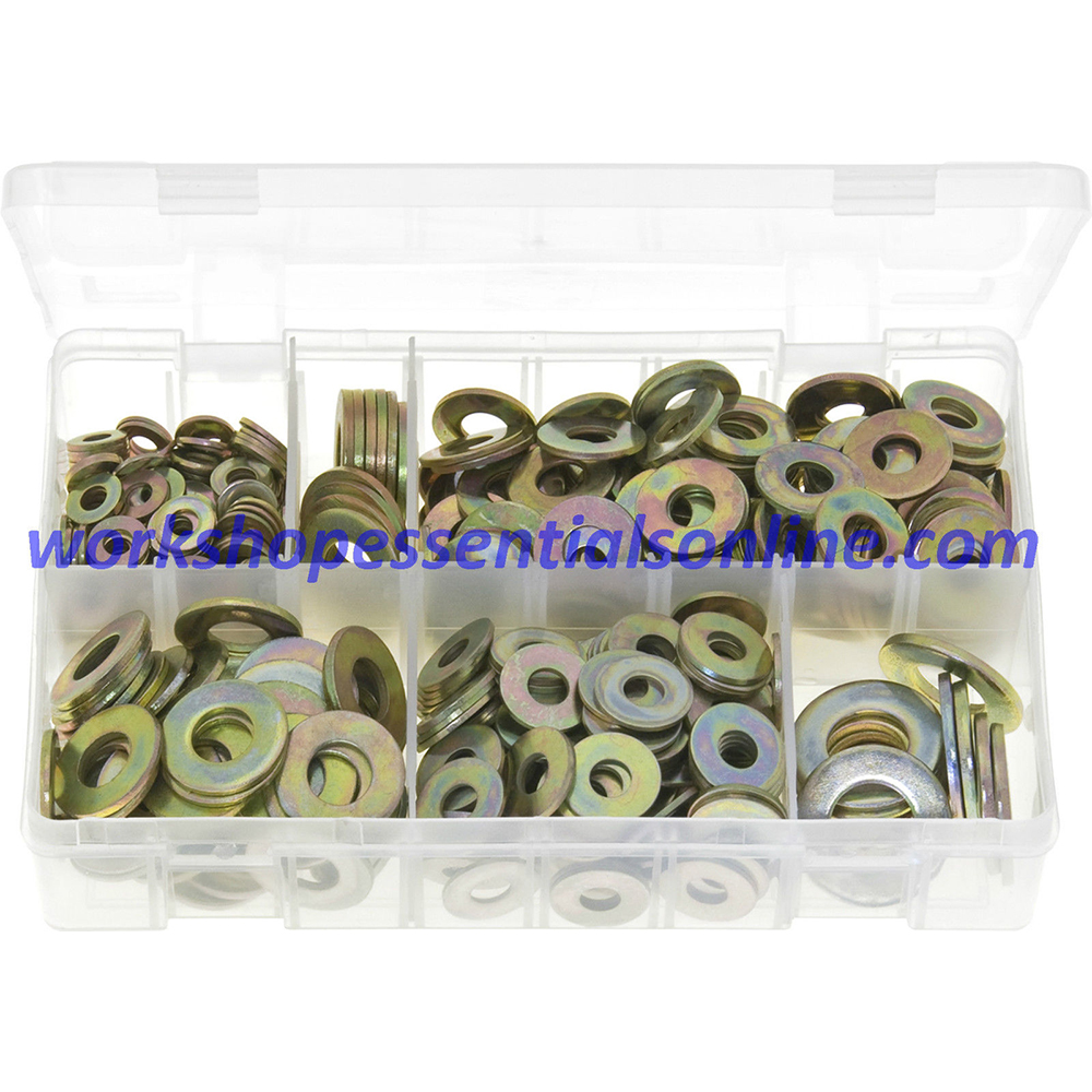 Flat Washers Metric Form 'C' Assorted 495 Pieces Boxed AB119
