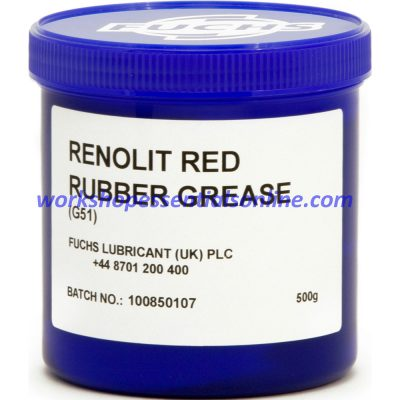 Fuchs Renolit Red Rubber Grease 500g Tub for Seals & Rubber Components