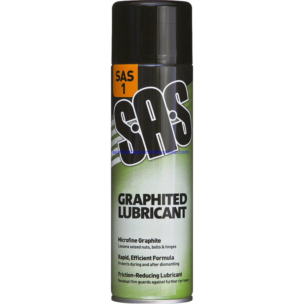 Graphited Lubricant Penetrating Spray Low Viscosity 500ml Tin SAS1
