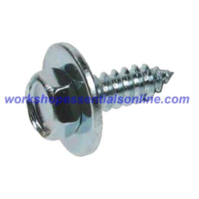 """Hex Head Self Tapping Acme Screws & Captive Washer No8-10-12 & 14 All 1/2"""" Long"""