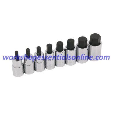 "Hex Key Allen Socket Set 1/2"" Drive 6,7,8,10,12,14,17 & 19mm Trident T130900"