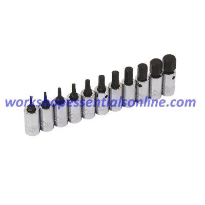 """Hex Key Socket 1/4"""" Drive 10mm Trident T110910"""