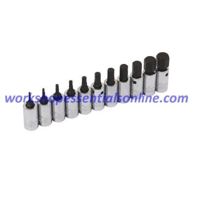"""Hex Key Socket 1/4"""" Drive 5mm Trident T110905"""