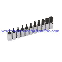 "Hex Key Socket Set 1/4"" Drive 1.5-11mm Trident T110900"