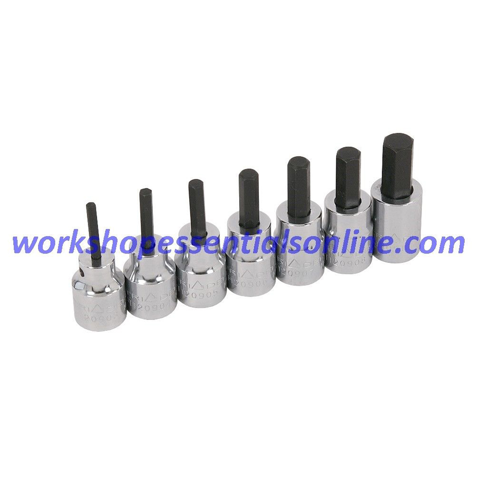 """Hex Key Socket Set 3/8"""" Drive 3-10mm Trident T120900"""