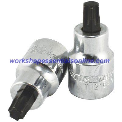 """Hex & Torx Socket Set 1/4"""" & 3/8"""" Drive 38 Pc 1.5-11mm T5-T55 Trident T110"""