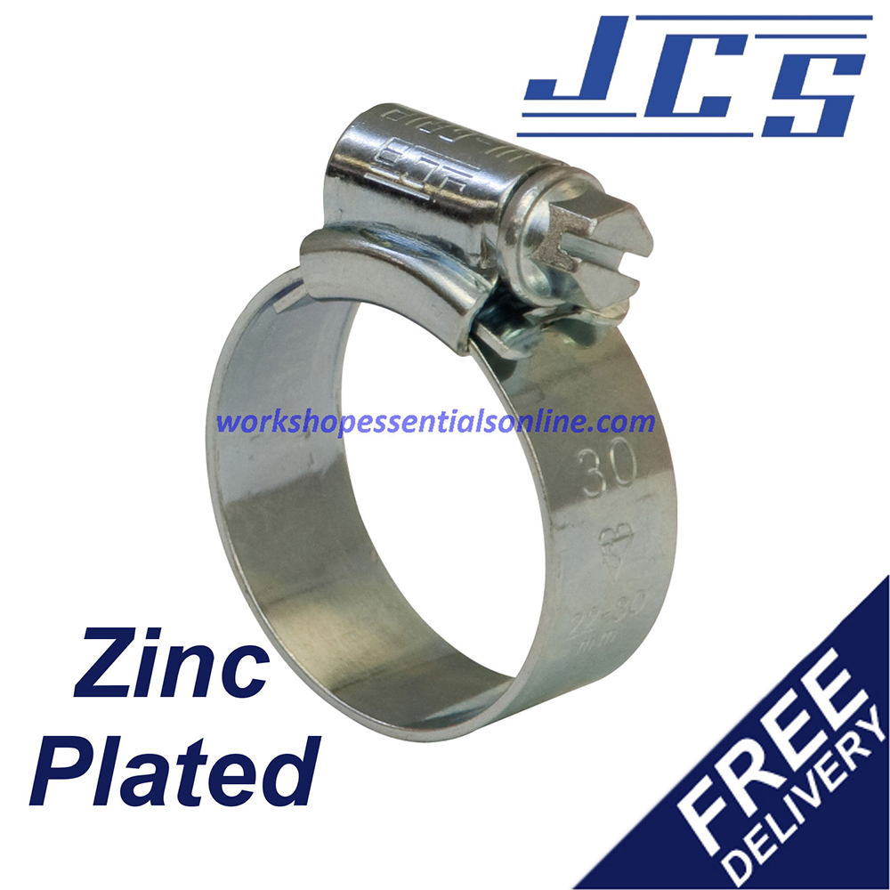 JCS Hose Clips Worm Drive for Water, Air, Petrol-Silicone, Rubber or Plastic