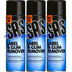 Label & Gum Remover for Glue, Gum, Tape & Tar etc Spray Can SAS58 500ml Aerosol