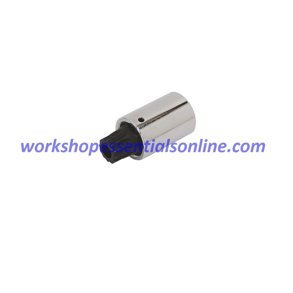 "Long Spline Bit Socket M12 1/2"" Drive 55mm Long Trident Quality Tools T130712"