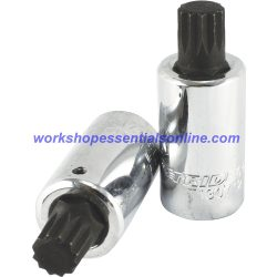 "Long Spline Bit Socket M16 1/2"" Drive 55mm Long Trident Quality Tools T130716"