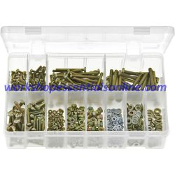 Machine Screws Metric Assorted with Nuts & Washers Pan Head Slotted 840 AB68