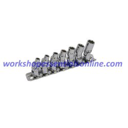 "Metric Flexi/Universal Joint Socket Set 7pc 1/4"" Drive 5mm-10mm Trident T111800"