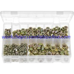 Metric Nuts Plain Zinc Plated Various Sizes M5,M6,M8,M10 Pack of 370 Boxed AB10