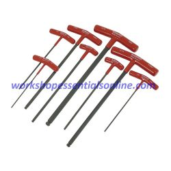 Metric T-Handle Ball Ended Hex Key Set 8 Piece 2-10mm Bondhus B13187
