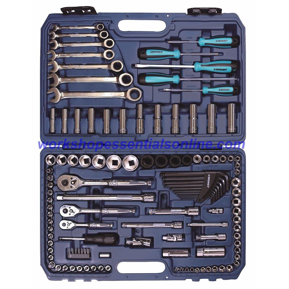 "Metric Tool Kit 118 Pc 1/4"",3/8"",1/2""dr Ratchet Spanners, Screwdrivers, Hex & Tx"