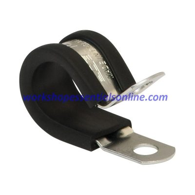 P-Clips EPDM Rubber Lined Steel Zinc Plated To Mount Cables Wires Tubes Pipes