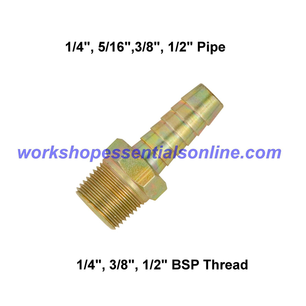 "PCL Threaded Hose Tails 1/4""-?""-1/2"" Male BSP Thread 1/4""-5/16""-3/8""-1/2"" Hose Tail"