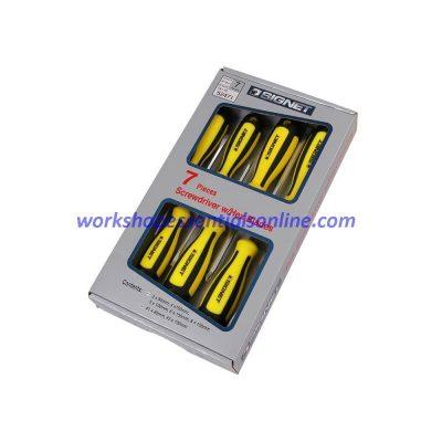 Screwdriver Set 7 Piece Signet S52471 Flat & Phillips Yellow-Black Magnetic Tips