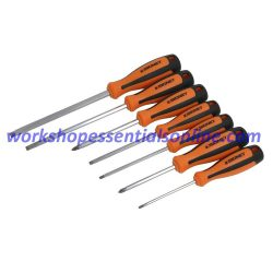 Screwdriver Set 7 Piece Signet S52472 Flat & Phillips Orange-Black Magnetic Tips
