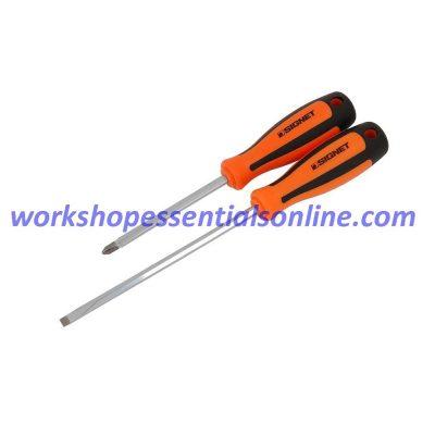 Screwdriver Set 7 Piece Signet S52472 Flat & Phillips Orange-Black Magnetic Tips