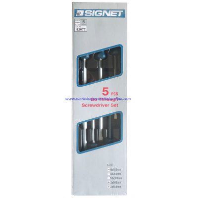 Screwdriver Set Go-Through IMPACT Signet S52677 5 Piece Flat, Phillips