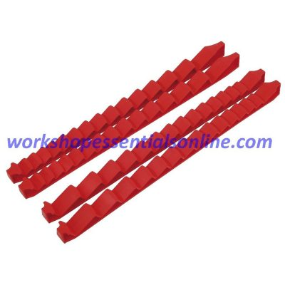 Spanner Organiser Low Profile Red Fits Upto 30 Spanners With Tape Ernst E6050