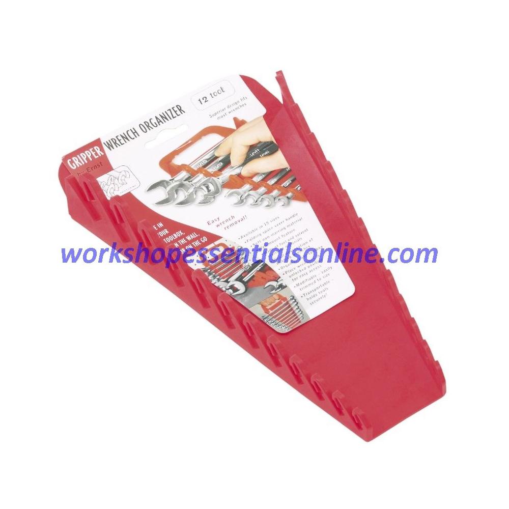 Spanner Organiser/Wrench Gripper Red Fits 12 Standard Spanners Ernst E5015