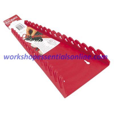 Spanner Organiser/Wrench Gripper Red Fits 12 Standard Spanners Ernst E5115
