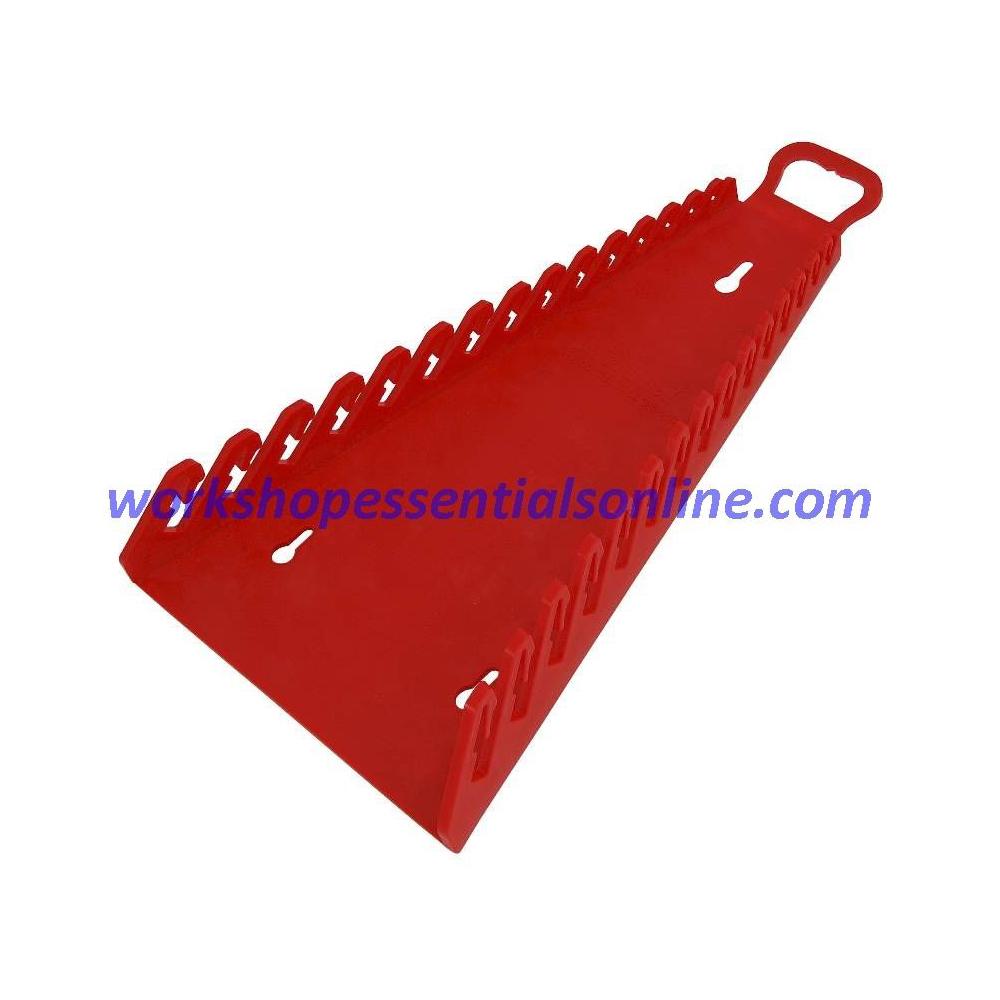 Spanner Organiser/Wrench Gripper Red Fits 15 Standard Spanners Ernst E5188