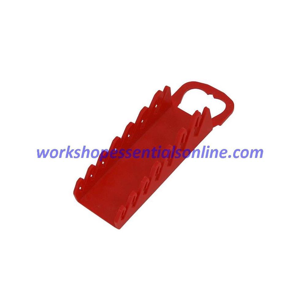 Spanner Organiser/Wrench Gripper Red Fits 7 Standard Spanners Ernst E5072