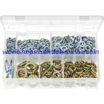 Spring Washers Metric Assorted Rectangular Section 1015 Pieces BZP Boxed AB77