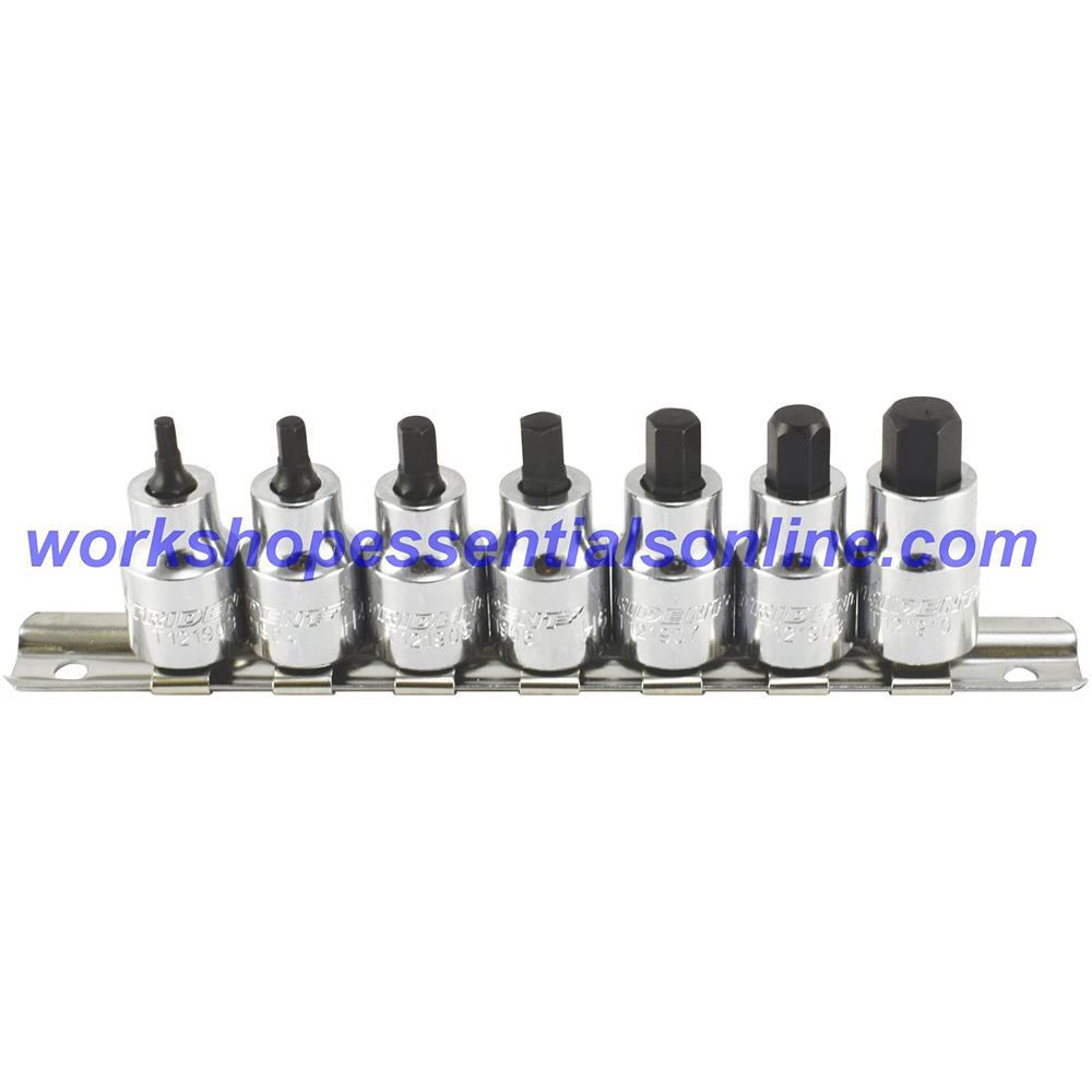 "Stubby Hex Key Socket 3/8"" Drive 10mm Trident T121910"