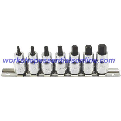 "Stubby Hex Key Socket 3/8"" Drive 4mm Trident T121904"