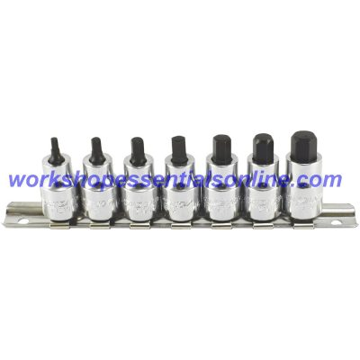 "Stubby Hex Key Socket 3/8"" Drive 6mm Trident T121906"