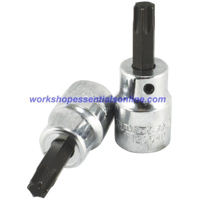 "T40 Torx Bit Socket 3/8"" Drive 50mm Long Trident T120540"