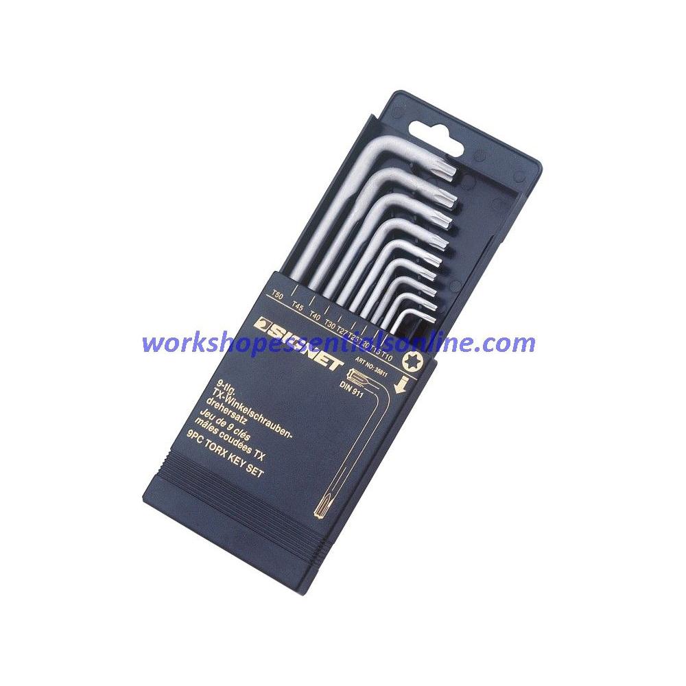 Torx Key Set 9 Piece T10 - T50 Signet S35811