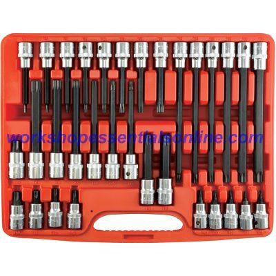 """Torx Key Socket Set 1/2"""" Drive T20-T70 in 4 Lengths T130550"""
