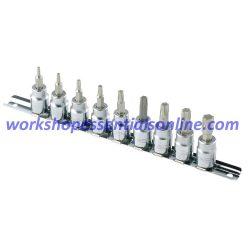 """Torx Socket Set 3/8"""" Drive T10-T50 Signet S22967"""