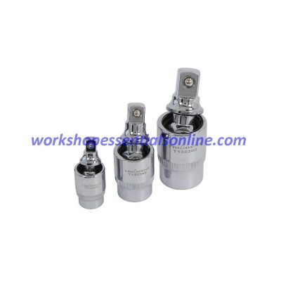 """Universal Joint/ Adapter Set 1/4"""" 3/8"""" 1/2"""" 3pc Trident T102300"""