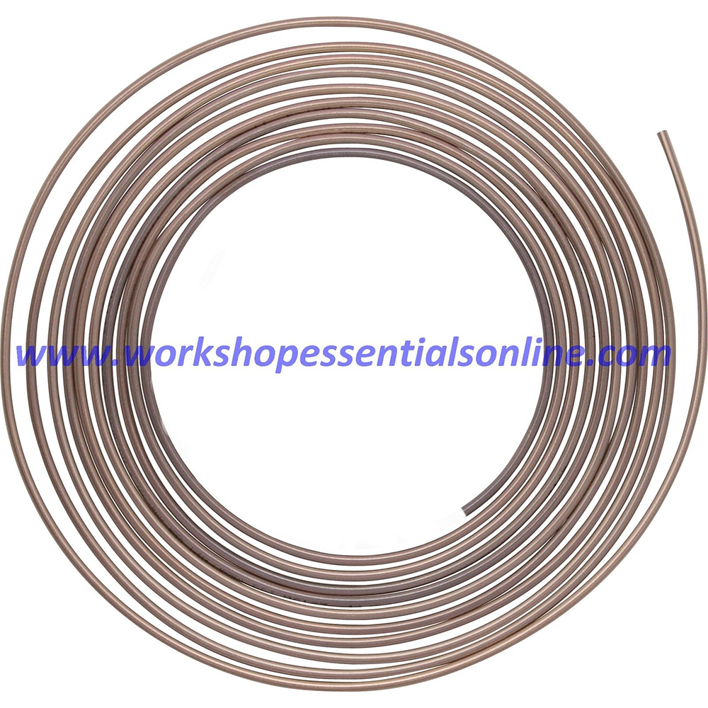 "Copper Brake Pipe Seamless 3/16"" 250-7500mm 25ft 1 Roll Multi Length"