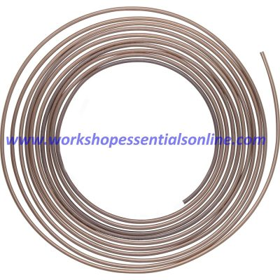 "Cupro-Nickel Brake Pipe Seamless 3/16"" 250-7500mm 25ft 1 Roll Multi Length"