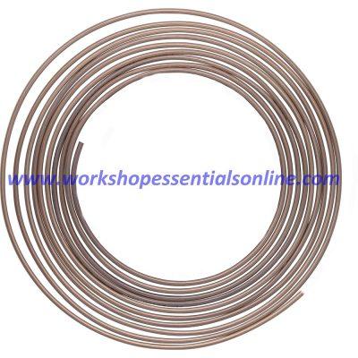 "Cupro-Nickel Brake Pipe Seamless 3/16"" 250-7500mm 25ft 1 Roll Multi Length"