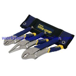 "Vise-Grip fast Release Locking Plier 3Pc Set Irwin 7"" 9"" 10"" In Roll VFRSET3"