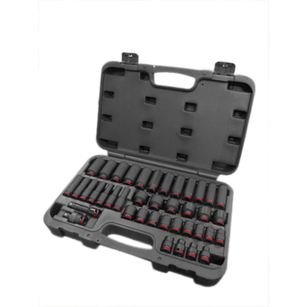 """UJ Ext in Plastic Case 3//8/"""" Drive Impact Socket Set 6-24mm Shallow and Deep"""
