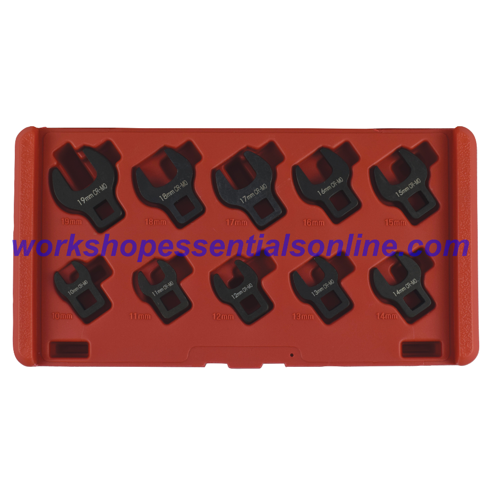 """3/8"""" Crowfoot Wrench Set 10-19mm 10Pc T214200"""