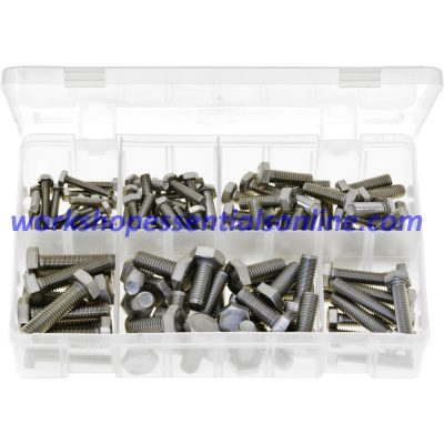 Metric Set Screws - Stainless Steel. 120 Pieces. AB154
